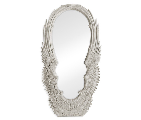 Image of Antique Silver-Leaf Floor Mirror