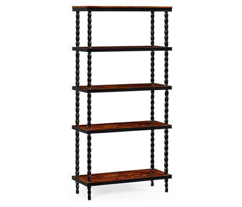 Jonathan Charles - Black Bookcase - 495348-BLA