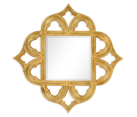 Image of Gilded Gold-Leaf Mirror