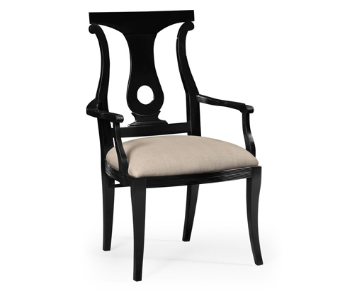 Image of Black Lock Dining Arm Chair