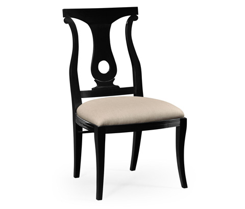 Image of Black Lock Dining Side Chair