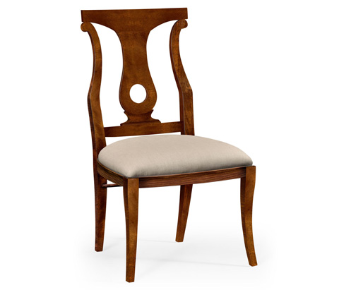 Image of Mahogany Brown Lock Dining Side Chair