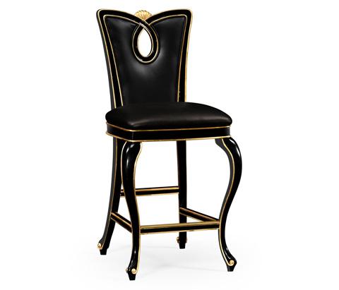 Image of Black Painted Barstool