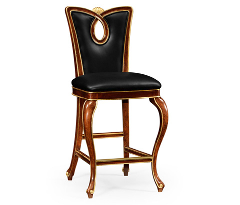 Image of Mahogany Brown Barstool