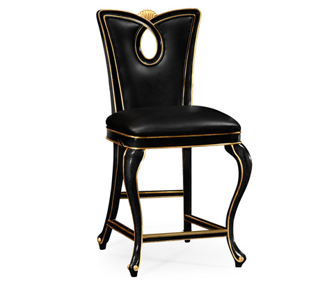 Image of Black Painted Counter Stool