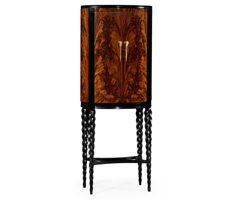 Image of Bar Cabinet with Black Twist Leg