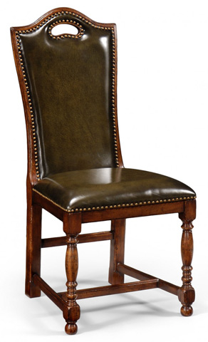 Jonathan Charles - Walnut Dining Side Chair - 50000B