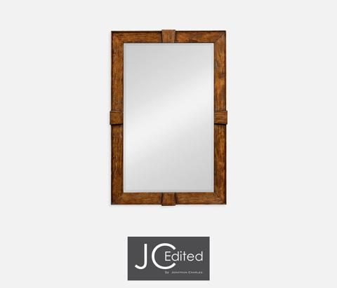 Jonathan Charles - Country Walnut Rectangular Mirror - 491011-CFW