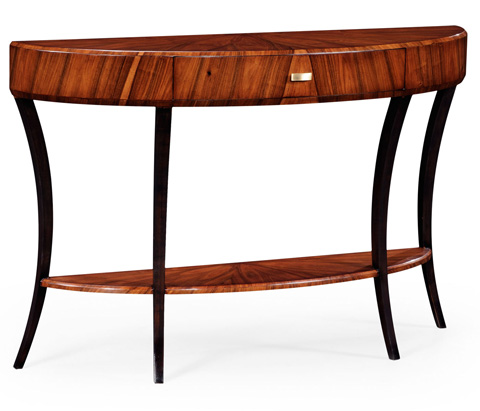 Image of Art Deco Large Demilune Console Table