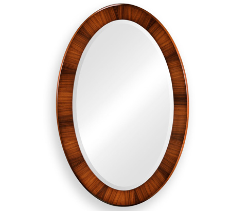 Image of Art Deco Oval Mirror