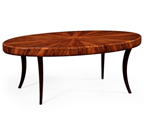 Jonathan Charles - Art Deco Oval Coffee Table - 494139-SAH