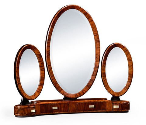 Image of Art Deco Style Triple Dressing Mirror