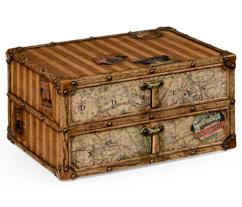 Image of Travel Trunk Style Desktop Chest