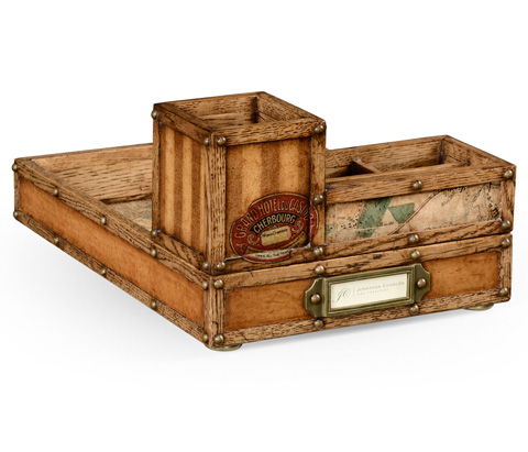 Image of Travel Trunk Style Desk Organizer