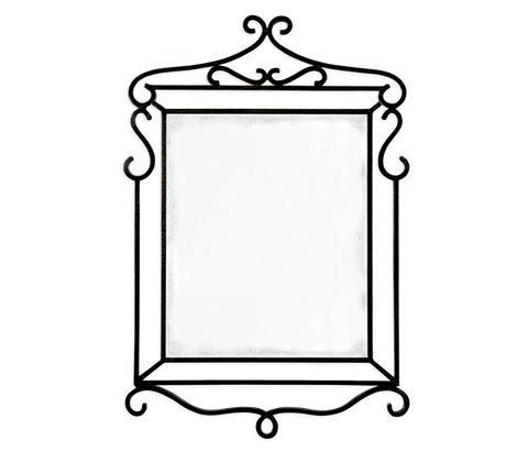 Jonathan Charles - Wrought-Iron Mirror - 495416