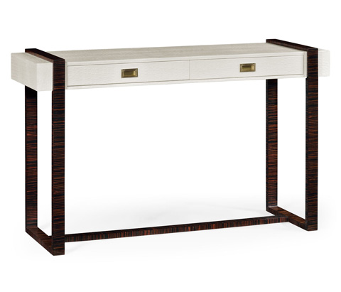 Image of Great White Faux Croc Console Table
