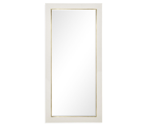 Image of Great White Faux Croc Mirror