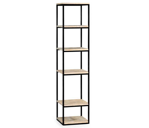 Jonathan Charles - Five Tiered Etagere in Limed Acacia - 495421-LMA