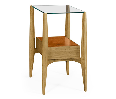 Image of Rectangular Architects End Table with Drawers