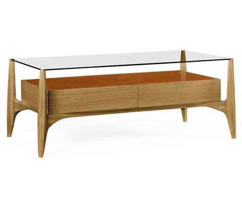 Image of Architects Cocktail Table with Drawers