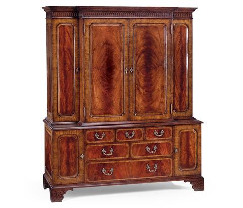 Image of Mahogany Gentleman's Wardrobe