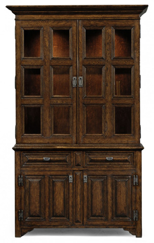 Image of Tudorbethan Dark Oak Bookcase