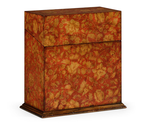 Image of Red Decanter Chinoiserie Case