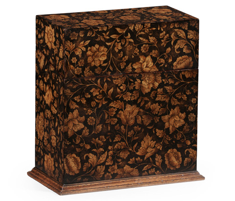 Image of Black Decanter Chinoiserie Case