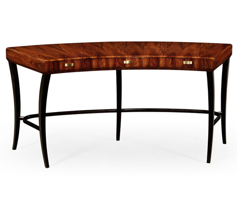Image of Art Deco Curved Desk with Drawers