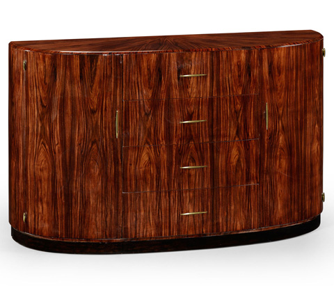Image of Art Deco Demilune Sideboard