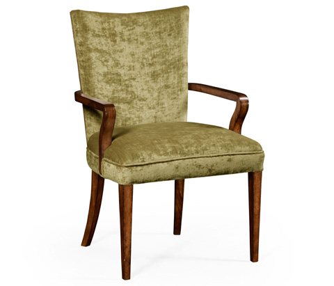 Image of Biedermeier Style Walnut Dining Arm Chair