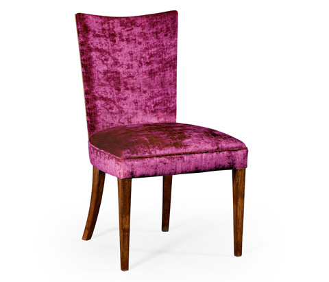 Image of Biedermeier Style Walnut Dining Side Chair