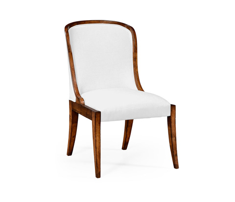 Image of Low Curved Back Upholstered Dining Side Chair