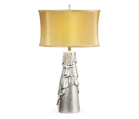 Image of Antique Silver Table Lamp