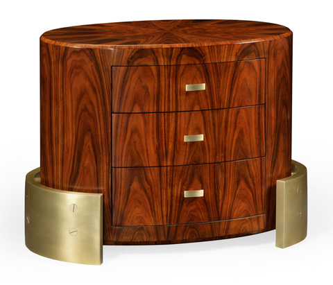Image of Small Oval Chest of Drawers