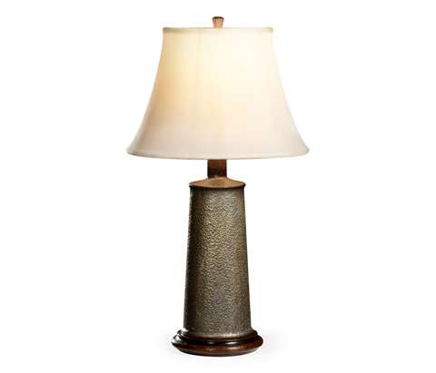 Image of Textured Brass Table Lamp