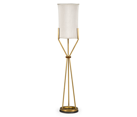 Image of Floor Lamp with a Circular Brass Base