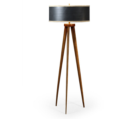 Image of Floor Lamp with Triangular Base