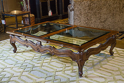 Karges - Glass Topped Rectangular Cocktail Table - 467