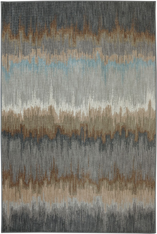 Image of Cashel Abyss Blue Rug - 9ft 6in x 12ft 11in