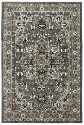 Image of Rhodes Ash Grey Rug- 9ft 6in x 12ft 11in