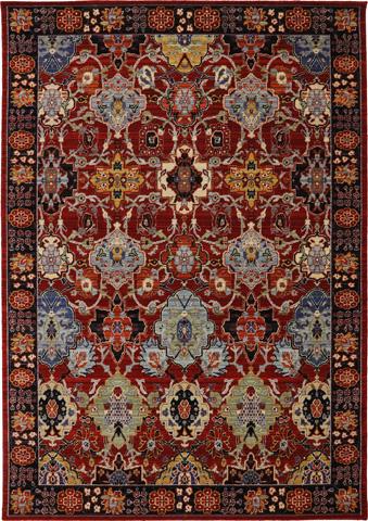 Karastan - Mahir Red Rug - 9ft 9in x 12ft 8in - RG817-147-9'9X12'8