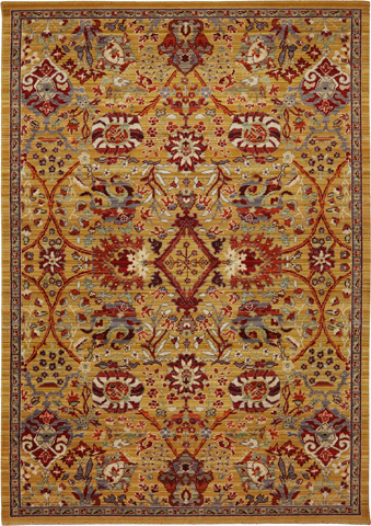 Karastan - Bahadir Gold Rug - 9ft 9in x 12ft 8in - RG817-408-9'9X12'8