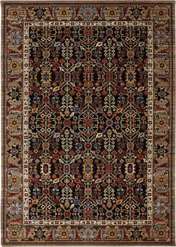 Karastan - Turan Black Rug - 9ft 9in x 12ft 8in - RG817-749-9'9X12'8