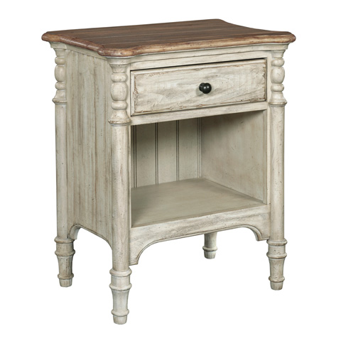Image of Open Nightstand in Cornsilk