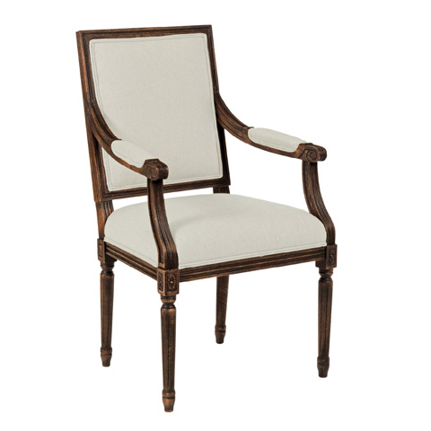Kincaid Furniture - French Arm Chair in Tobacco - 90-2406R