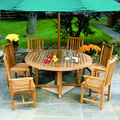 Kingsley-Bate - Essex Round Dining Table - TR50