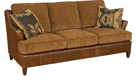 Image of Melrose Leather/Fabric Sofa