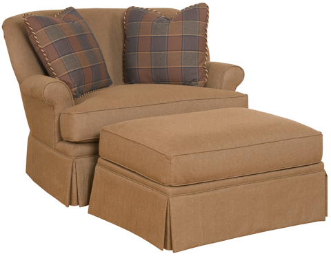 King Hickory - Upholstered Cuddle Chair and a Half - 0971