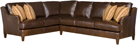 Image of Melrose Leather Sectional Sofa
